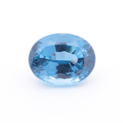 Loose 22.33 CT Blue Topaz Gemstone