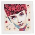 "Dr8 Love Giclée ""Audrey Hepburn-Red"""