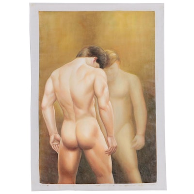 Figural Oil Painting of Male Nude