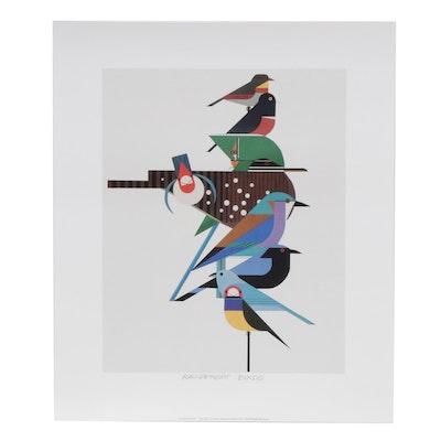 """Offset Lithograph after Charley Harper """"Rainforest Birds"""""""