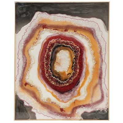 """Amy Renée Moberger Mixed Media Painting """"Geode Indulgence"""""""