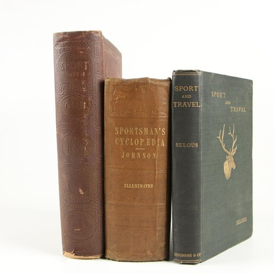 """Hunting Books including """"The Sportsman's Cyclopædia"""" by T. B. Johnson, 1848"""