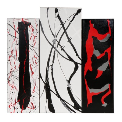 Amy Renée Moberger Abstract Acrylic Paintings
