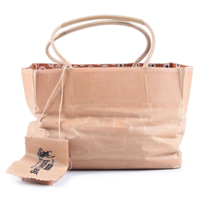 The Brave Brown Bag Le Sac de Charlotte Hand-Constructed Glazed Cotton Mini Tote