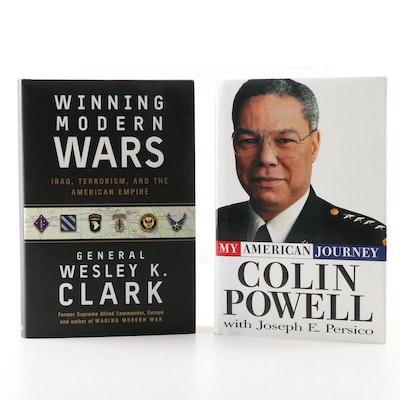 "Colin Powell ""My American Journey"" & Signed Wesley Clark ""Winning Modern Wars"""
