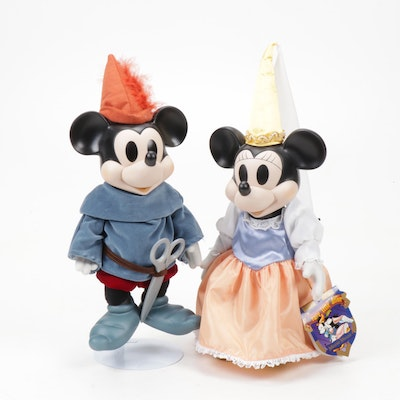 """Mickey and Minnie Mouse """"Brave Little Tailor"""" Music Boxes"""