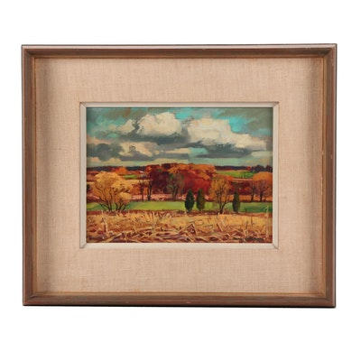 Ranulph Bye Oil Painting of Pastoral Landscape