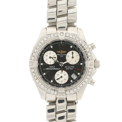 Stainless Steel and 1.03 CTW Diamond Breitling Colt Chrono Ocean Wristwatch