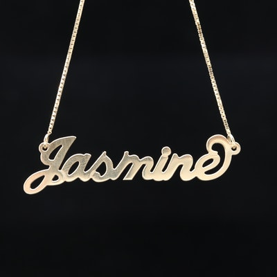 Sterling Silver Necklace with Jasmine
