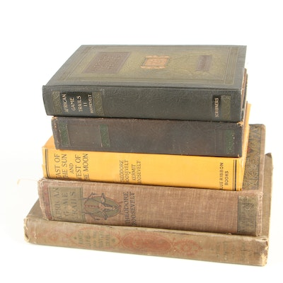 "Theodore Roosevelt Books including 1897 ""Ranch Life and The Hunting-Trail"""