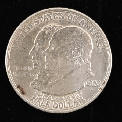 1923-S Monroe Doctrine Commemorative Silver Half Dollar