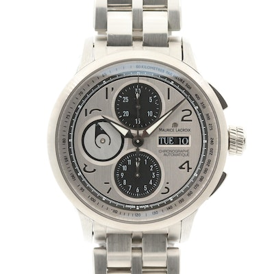 Maurice LaCroix Materpiece Stainless Steel Automatic Chronograph Wristwatch