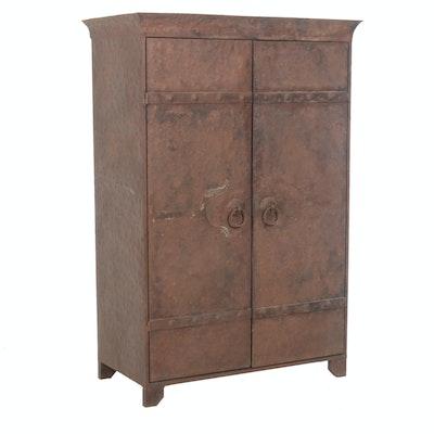 Rustic Metal Storage Cabinet