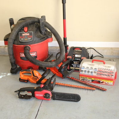 Shop Vac, Pole Saw, Hedge Trimmers and More