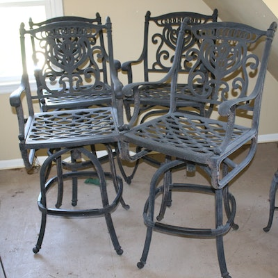 Cast Aluminum Patio Bar Chairs