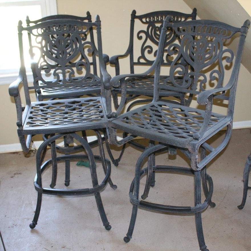 Cast Aluminum Patio Bar Chairs