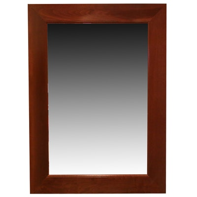 Contemporary Cherry Framed Wall Mirror