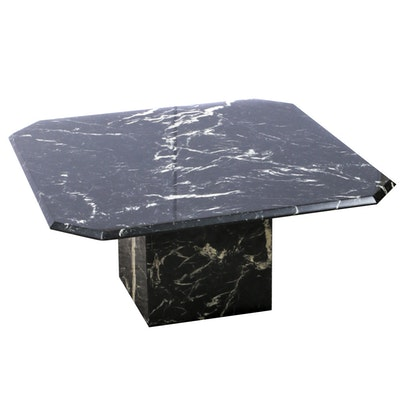 Marble Pedestal Coffee Table