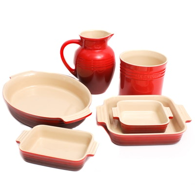 Le Creuset Red Stoneware Cookware