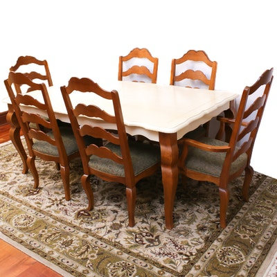 Ethan Allen Maple Finish Dining Table and Chairs, Contemporary