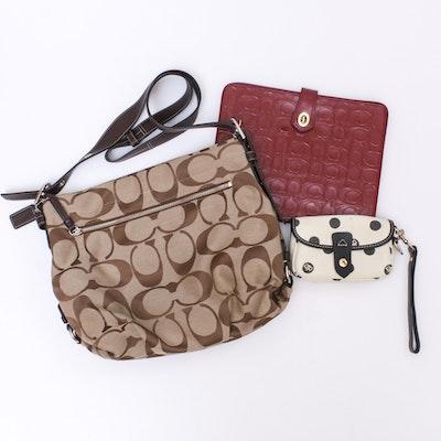 Coach Monogram Canvas Handbag, Coach iPad Case and Dooney & Bourke Wristlet
