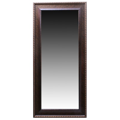Contemporary Wood Framed Wall Mirror