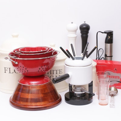 Cuisinart Immersion Blender, Canisters, Colanders, Fondue Pot and More