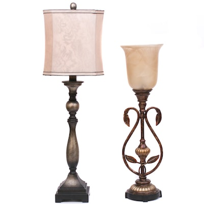 Contemporary Cast Metal Table Lamps