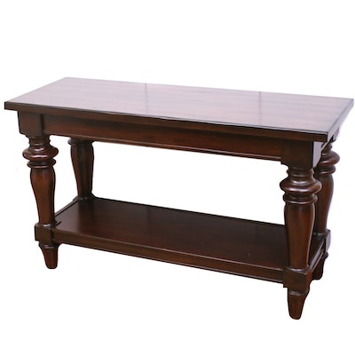 Contemporary Walnut-Finished Hardwood Hall Table