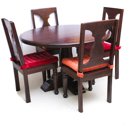 World Market Mahogany Dining Table and Chairs