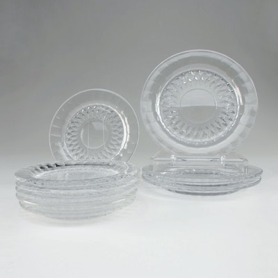 "Val Saint Lambert ""Imperial"" Crystal Salad and Bread and Butter Plates"