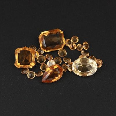 Loose 15.02 CTW Citrine Gemstones