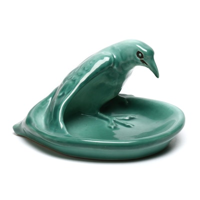 1949 Rookwood Rook or Raven Green Glazed Tray