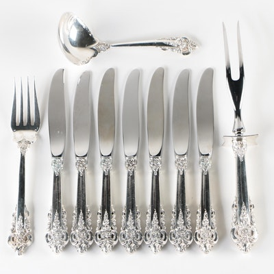 "Wallace ""Grand Baroque"" Sterling Silver Flatware and Serving Utensils"