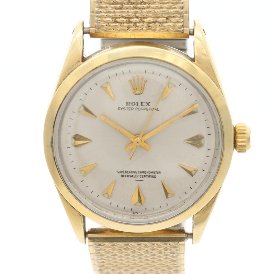 Vintage Rolex Oyster Perpetual Gold Shell Wristwatch, Circa 1962