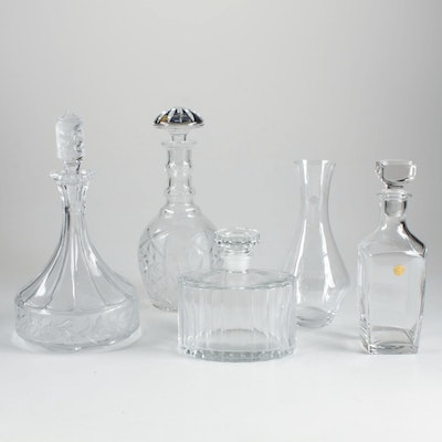 Crystal and Glass Decanter Collection Featuring Riedel