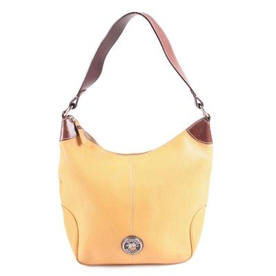 Dooney & Bourke Two-Tone Leather Hobo Bag