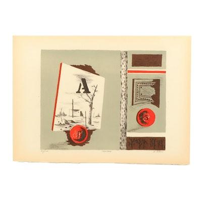 "Karl Eugene Fortess Lithograph ""Paysage"""