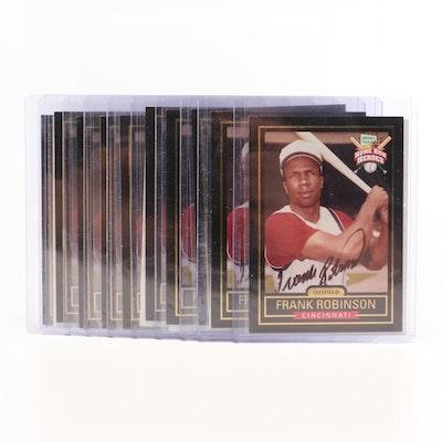 Ten 1999 Frank Robinson Hillshire Meats Certified Autograph Baseball Cards, COAs