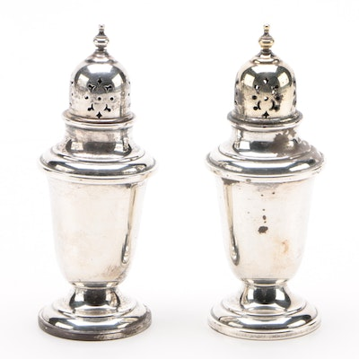 "Gorham ""Puritan"" Sterling Silver Salt and Pepper Shakers, Mid-Century"