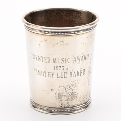 Mark J. Scearce Poynter Music Award Sterling Silver Julep Cup, 1975