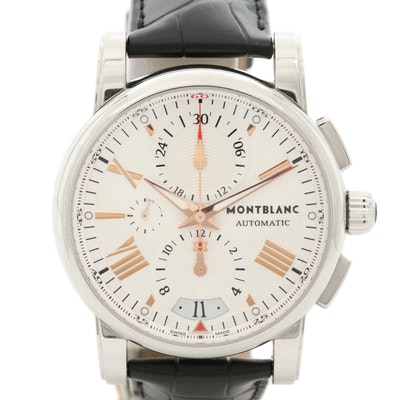 Montblanc Meisterstuck Stainless Steel Automatic Chronograph Wristwatch