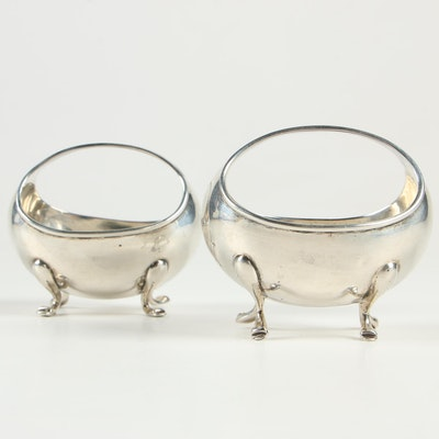 George Leonard Allen of Chester Egg-Shaped Sterling Silver Salt Cellars, 1906