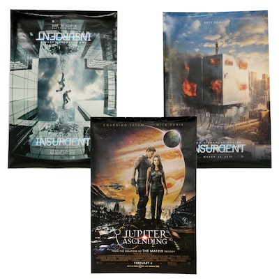 """Insurgent"" and ""Jupiter Ascending"" Double-Sided Movie Posters"