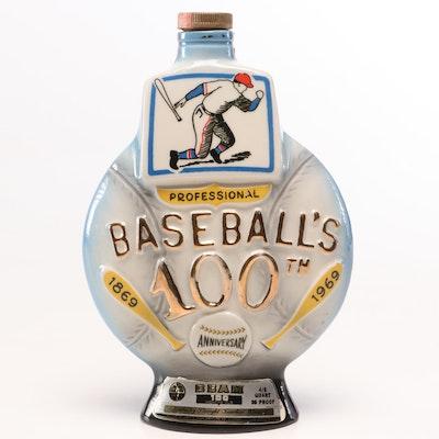 "1969 Jim Beam ""100 Years of Baseball"" Regal China Whiskey Decanter"