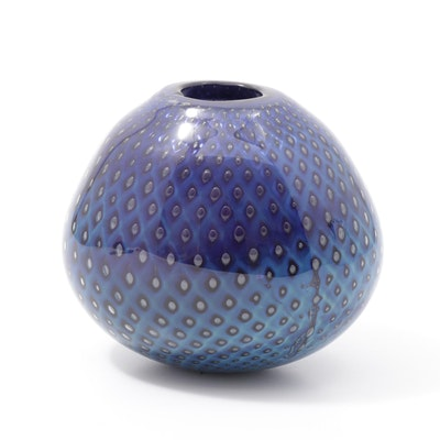 Robert Eickholt Handblown Art Glass Vase, 2002