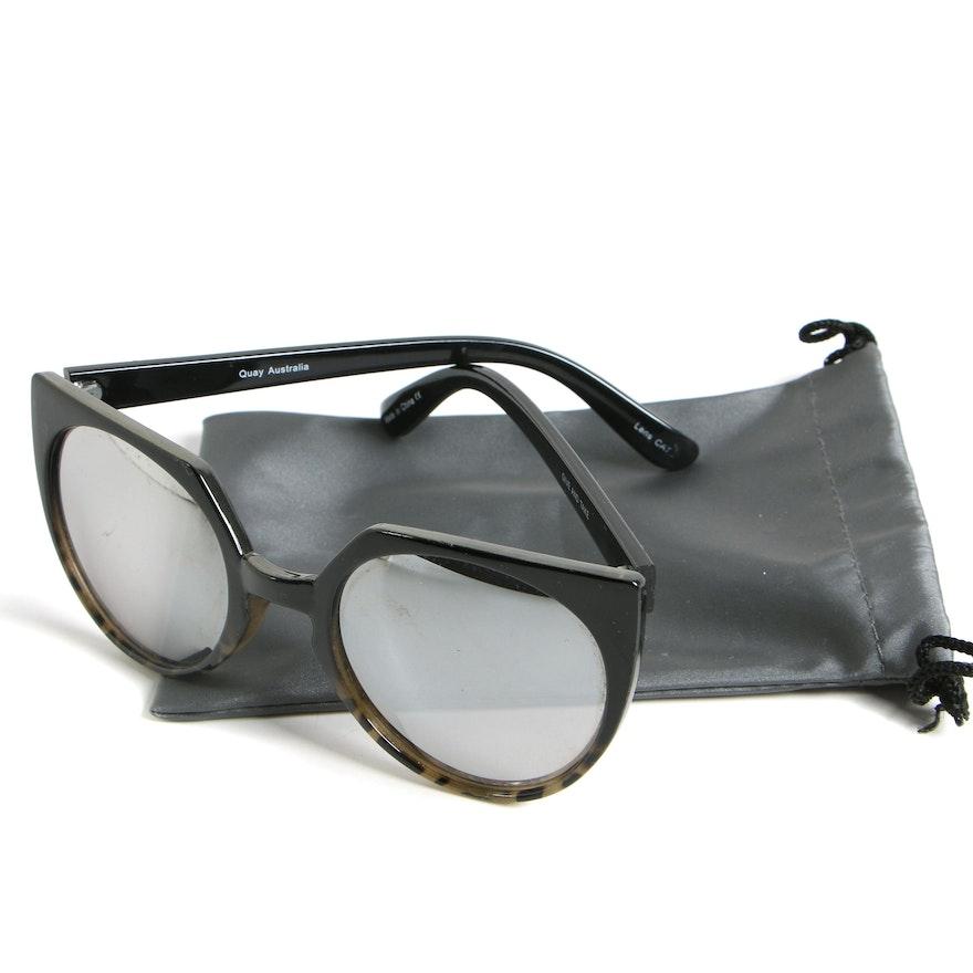 Quay Australia Give and Take Cat Eye Mirrored Sunglasses
