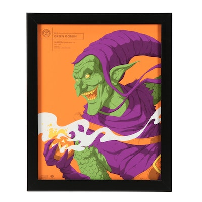 "2017 Serigraph after Florey ""Green Goblin"""