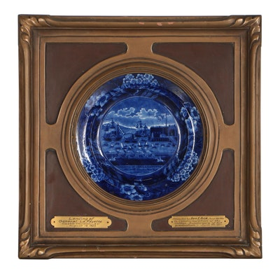 James & Ralph Clews Staffordshire Transferware Commemorative Plate
