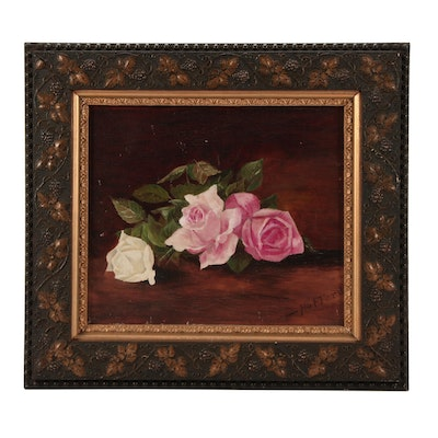 Hafford Floral Still Life Oil Painting of Roses
